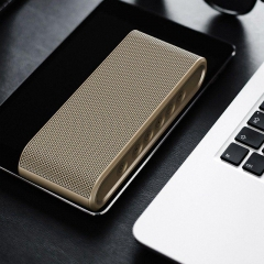 Wireless Bluetooth Speaker Metal Touch Dual Speakers Mini Portable Outdoor HIFI  Loudspeakers golden one size one size