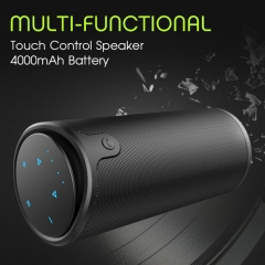 ZEALOT S8 HiFi 3D Stereo Wireless Bluetooth Speaker Column Touch Control Support TF Card black one size one size