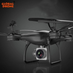 Global Drone Profissional Hover Quadrocopter FPV Real Time Transmission Drones with Camera HD Black Gw168