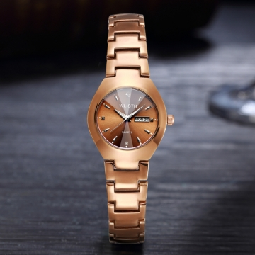 Lovers Brown Watch Men Women Date Quartz Wrist Watches Top Brand Luxury Female Male Clock gold  for women