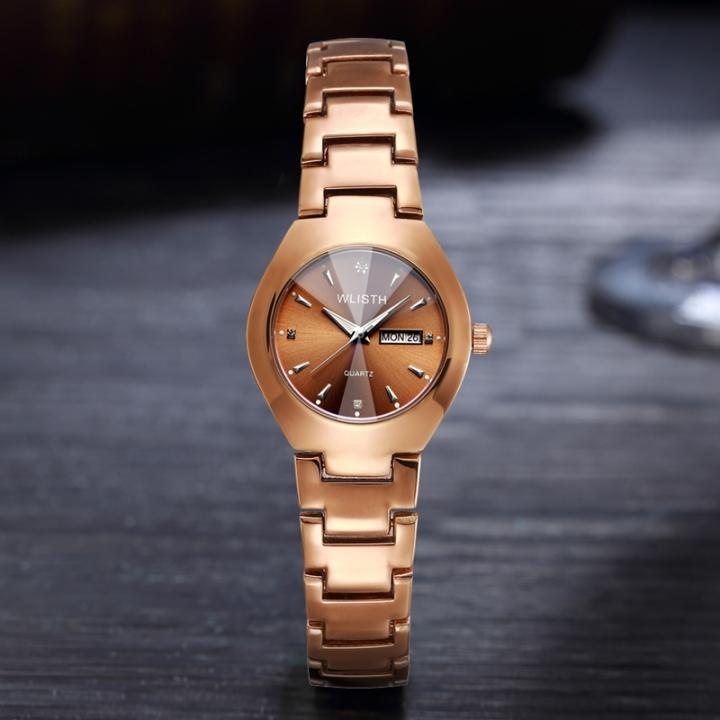 Lovers Brown Watch Men Women Date Quartz Wrist Watches Top Brand Luxury Female Male Clock gold  for women