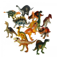 DoubleBetter 12 Piece Set Educational Dinosaur Toys Multicolour 16.5cm-4.2cm-8.5cm