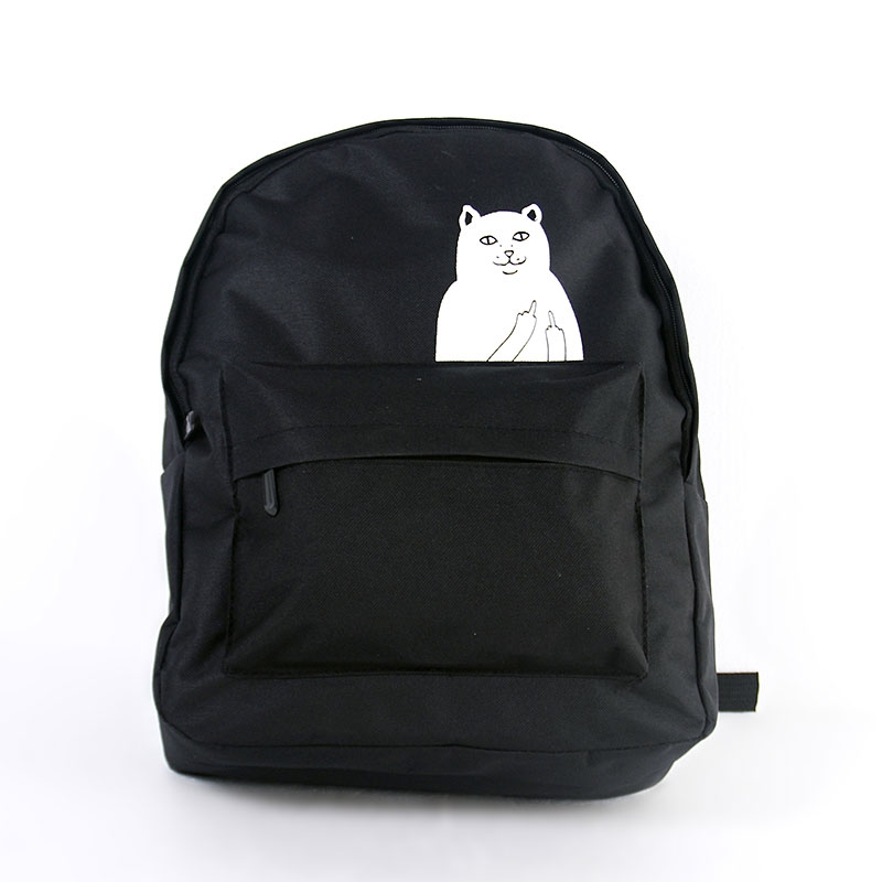 1f046cf4e50b Lemon Kitten Japanese Cat Backpack For Women School Bag Canvas ...