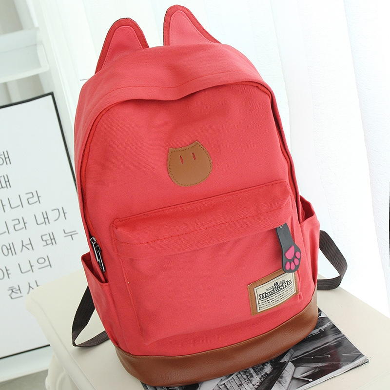 aff7dc62c706 Canvas Backpack For Women Girls Satchel School Bags Cute Rucksack ...