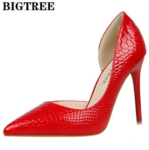 01dde7e9f047 Sexy Stone Pattern Leather Red Wedding 10CM Thin Heel Injection Rubber Sole  Party High Heels Shoes