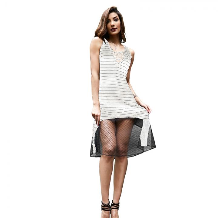 Beauty Garden Women Summer Fashion Sexy Dress Ladie Sleeveless strappy  Clubwear Party Dress white l a2956ce16521