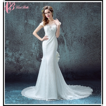 Faddish Cap Sleeve Floor-Length China Sheath Sample Sale Wedding ...