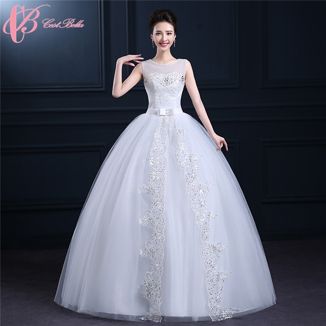 White Bridal Sleeveless Puffy Backless Ball Gown Wedding Guest Dress ...