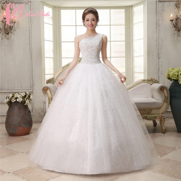 179dde37d79c One-shoulder White Bridal Puffy Ball Gown Plus Slim Fit Size Wedding Dress  Cestbella pure white 12 148398 | Kilimall Uganda