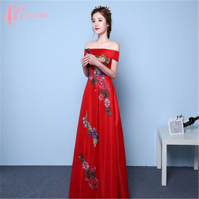 039c334ed8d98 Long Off Shoulder Cap Sleeve Evening Dress Red Long Factory in Chinese  Cestbella image image image image ...