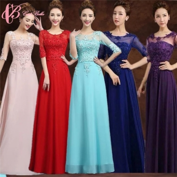 Cestbella Spanish Style Short Sleeve Women Long Cheap Bridesmaid ...