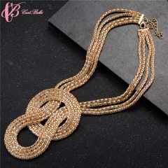 women's day gift Special Design Golden Luxurious Sparkling Jewelry Necklace Gifts Cestbella golden normal