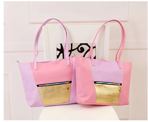 (Buy Pink Get 5 Gift) Women's day  Gift Handbag Leather Bag as Picture pink normal