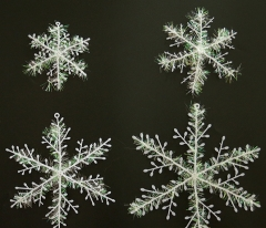 11CM Snowflakes Window Clings Christmas Decoration Xmas Party Stickers Decal Ornament (3 Pcs a Pack) white normal normal