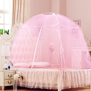 (Buy 1 Get 4 Gift)(Pink in Stock)  Lasting Colored Mosquito Killer Lace Mosquito Net for 1.8M Bed pink normal