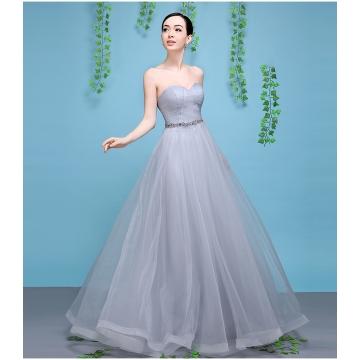 Cestbella Elegant Illusion Lace Appliqued Bridesmaid Dress grey us ...