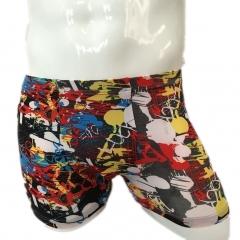 New men's underwear ice silk printed flat underwear random xxxl