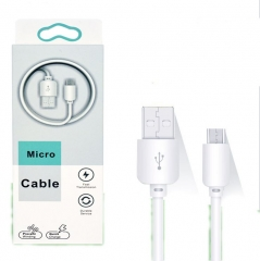 4.0mm bold USB fast charge v8 Andrews data cable S4 universal smart phone charger white