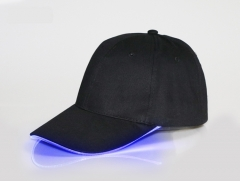 Luminous Caps LED Glow Baseball Hats Fiber Optic Glow Hats Advertising Glow Sunhat