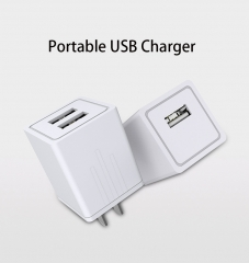 Mobile phone charger   Dual USB fast Charger 2.1A intelligent General charger white one size