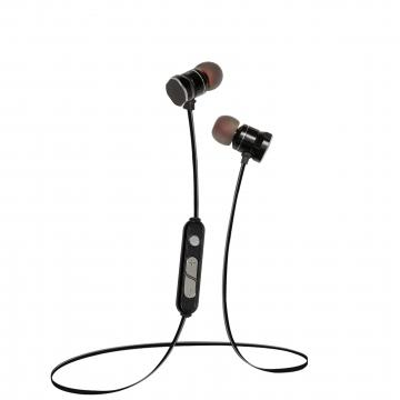 Bluetooth headset movement wireless Ears stereo run Ear plug type Metal magnetic absorption 4.1 black