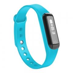 intelligent movement Step  waterproof Sleep monitor news remind intelligent wristband blue