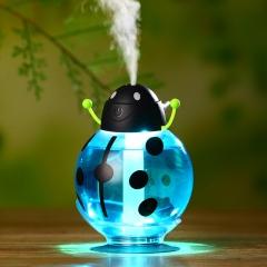 Humidifier USB Car Beetle Luminous Mini Humidifier Ultrasonic Aroma Filter blue 8CM*8CM*12CM 2w