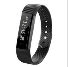 Intelligent Wristband Heart Rate Sleep Monitor Bluetooth Movement Step Waterproof Watch black
