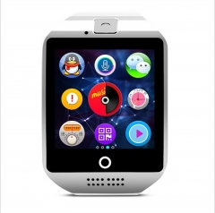 Curved Screen Intelligent Watch Bluetooth Phone Mobile phone Card Wearable Equipment StEep Anti-lost white