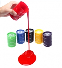 Creative Funny Tricky Toys Shapi Rubber Bucket Child Toy 6 colors one size