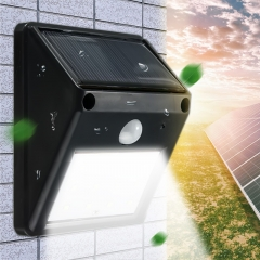 20LED Solar Powered Motion Sensor Light Garden Fence Patio Security Wall Light Lamp Night Light black 96*124*48(mm) 0.65w