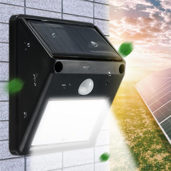 20LED Solar Powered Motion Sensor Light Garden Fence Patio Security Wall Light Lamp Night Light black 96*124*48(mm) 0.65w