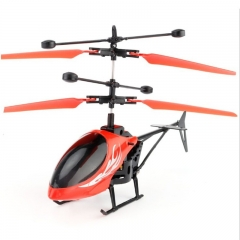 Kids Hand Induction Helicopter Aircraft Dual Mode Plane Toys Durable USB Charging red one size