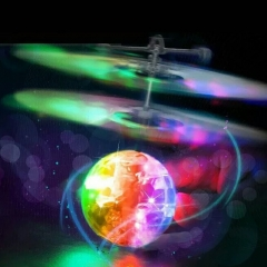 LED Toy Induction Suspension Fly Ball Helicopter Flash Glow RC Aircraft Kid Hot Better Item Rainbow one size