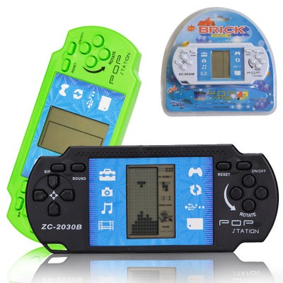 Classic Russia Square Hand-held Gaming Device Classic Nostalgia Child Brain Game random color one size
