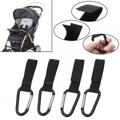 1 pcs  Baby Stroller Hooks Hanger Stand Accessories For Shopping Buggy Cart black one size