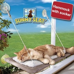 Cat Bed Window Mounted Pet Hammock Perch Sunny Seat Cushion Sunshine Hanging