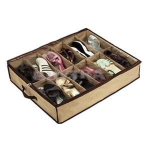 1 x Shoe Storage Boxes  sc 1 th 225 & Shoe storage organiser underbed shoe box 12 pairs rack large Clean ...