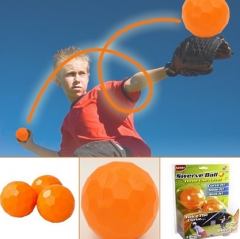 1PCS/LOT Swerve Ball - The Amazing Ball That Lets Anyone Throw Like A Pro - As Seen On TV orange one size