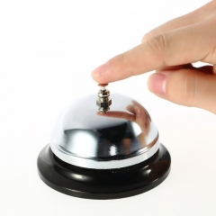 Ring Service Call Bell Desk Kitchen Hotel Counter Reception Restaurant Bar silver one size
