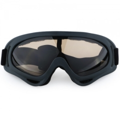 Outdoor Sports Ski Windproof Goggles Single Layer Snow Mirror Motorcycle Riding Glasses black one size