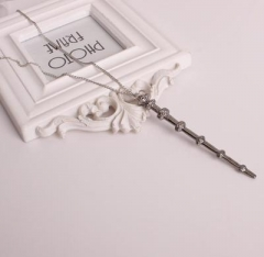 Western Style Harry Potter Six Bones Magic Wand Hermione Bone Sirius Volt Wand Necklace 1 one size