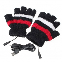 Winter Electric USB Heatting Color Hand Warming Gloves +USB Cable H9 black one size