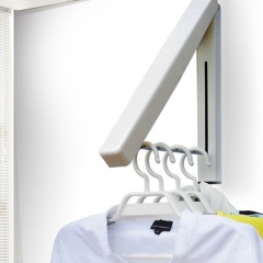 Stainless Folding Wall Hanger Mount Retractable Indoor Clothes Rack Rack Clothes Organization 1 one size