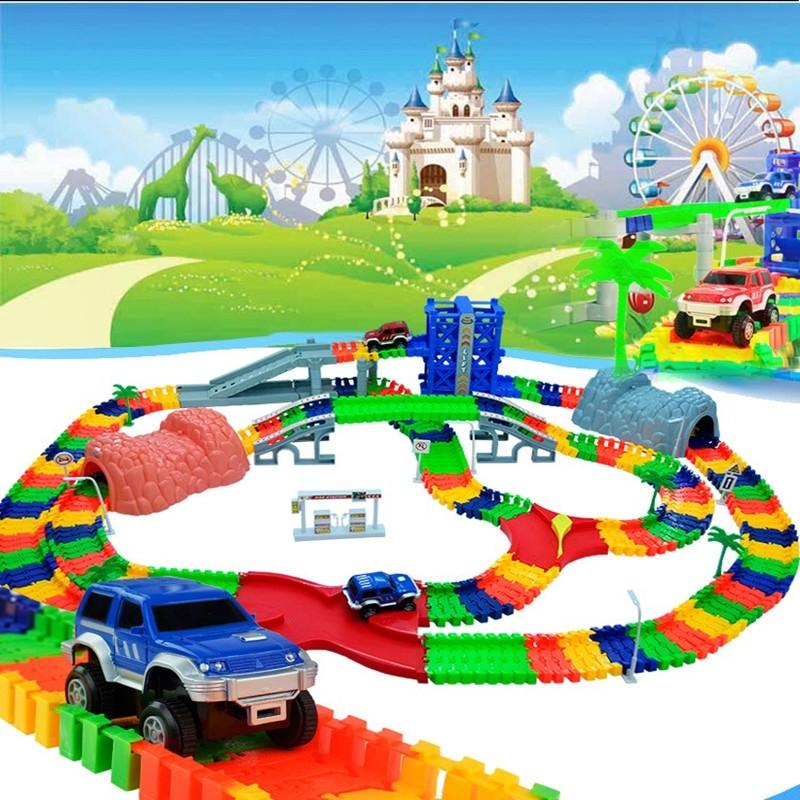 Track Car Hot Wheels Glowing Lighting Diy Slot Led Battery Electric 1 64 Model Mini Rail Car Toys Color One Size