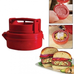 Stuffed Burger Press Hamburger Grill Patty Maker Juicy As Seen Meat Mold Ground Beef Presses red one size