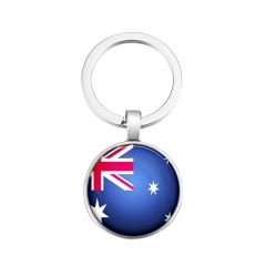 2018 Fashion Football World Cup National Flag Key Ring DIY Personality Metal key Ring Ornaments 1 one size