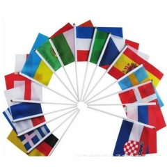 2018 Russia World Cup Top 32 Country Hand Flag World Countries Hand Flag 32 Flags one size