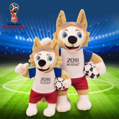 2018 World Cup Mascot is The Wolf Soft Plush Toys licensed Football Fan Football Gift mascot 18cm