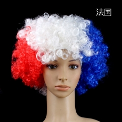 National Flag Wig for 2018 Russia Football World Cup  Counties Flag Wig Football Fans Supplies 1 one size